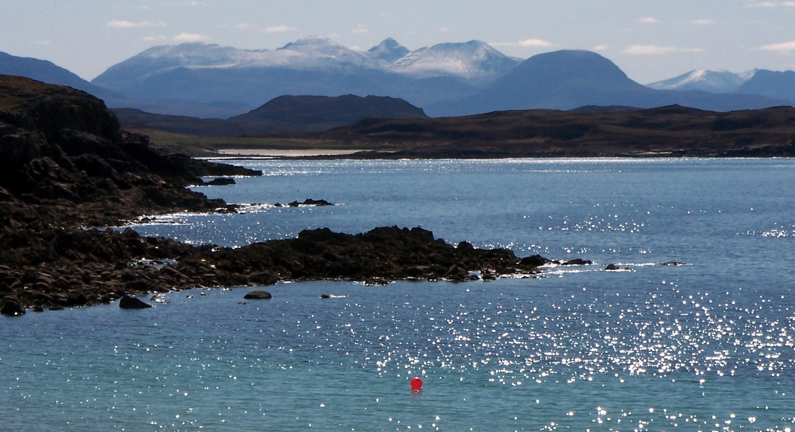 View across the Bay of Sail Mhor