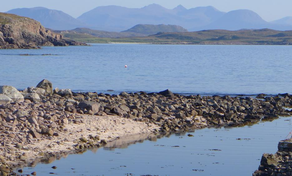 Sea channel into Reiff Loch