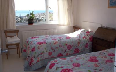 Twin Bedroom with Beach View